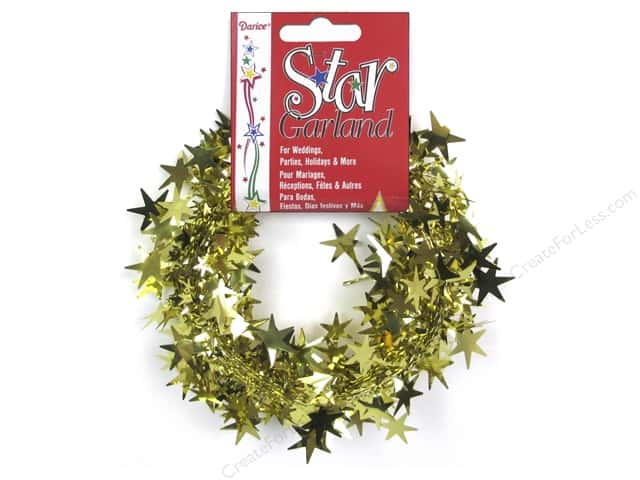 Darice Star Garland 25 ft. Gold