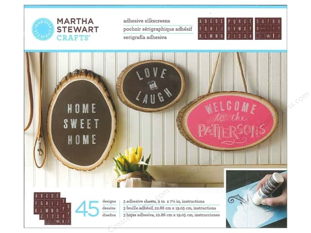 Martha Stewart Silkscreen by Plaid Chalkboard Striped Alphabet