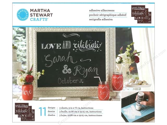 Martha Stewart Silkscreen by Plaid Chalkboard Phrases