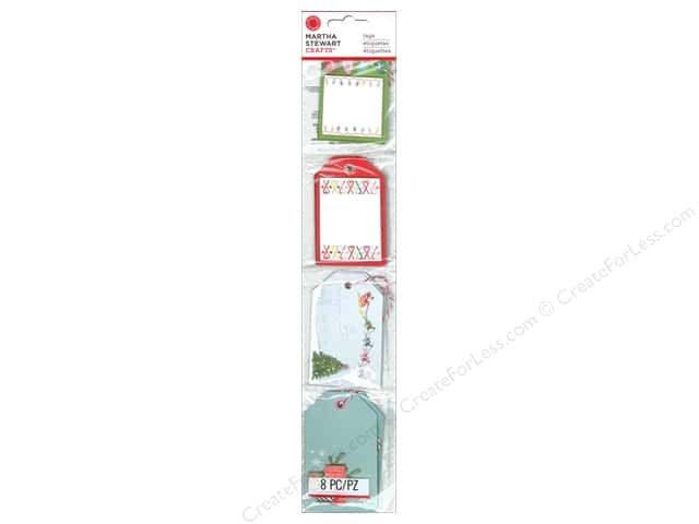 Martha Stewart Gift Tags Merry and Bright PreMade