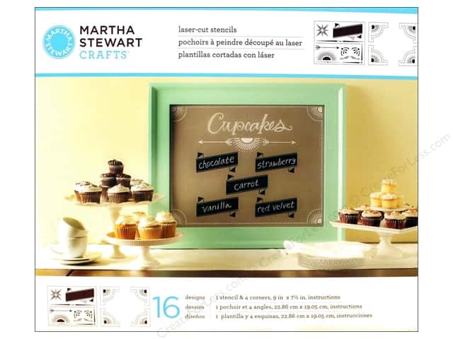 Martha Stewart Stencils by Plaid Chalkboard Banners & Corners