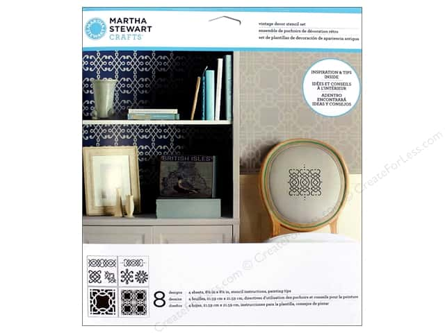Martha Stewart Stencils by Plaid Vintage Decor Ornamental Trellis