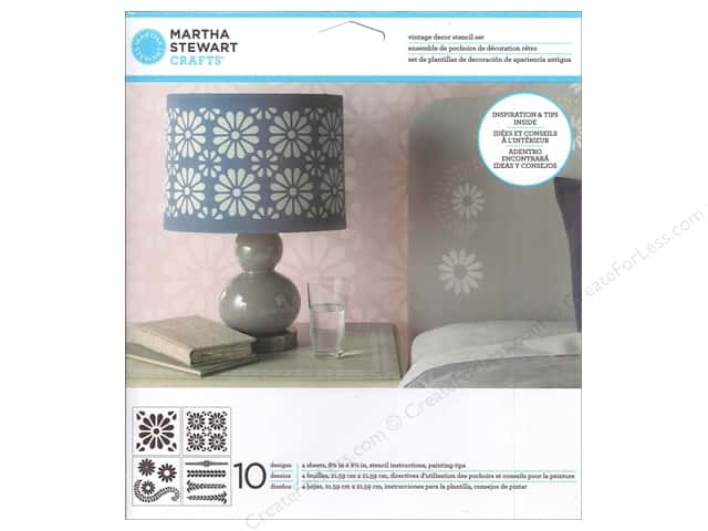 Martha Stewart Stencils by Plaid Vintage Decor Daisy Petal