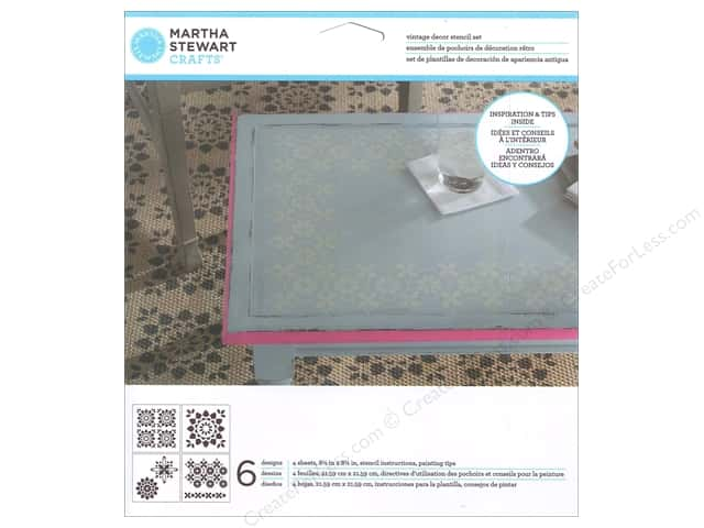 Martha Stewart Stencils by Plaid Vintage Decor Kaleidoscope Flower