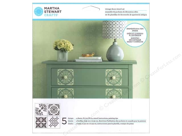 Martha Stewart Stencils by Plaid Vintage Decor Fleur De Lis