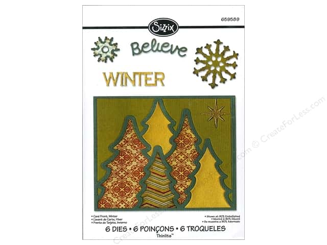 Sizzix Thinlits Die Set 6 pc. Winter Card Front