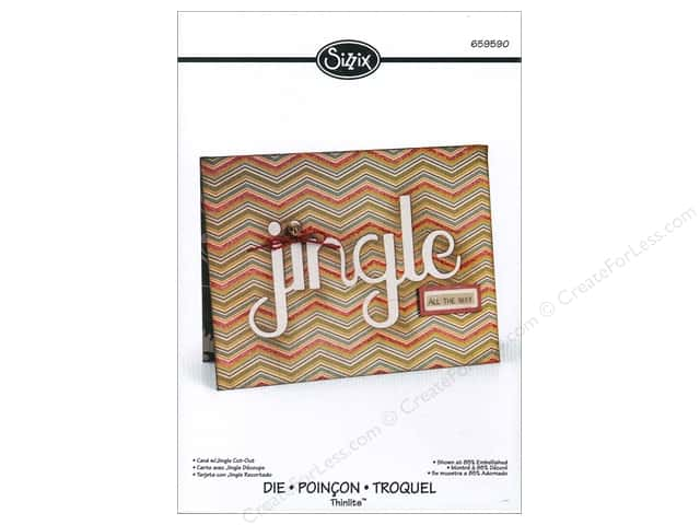 Sizzix Thinlits Die 1 pc. Card with Jingle Cut-Out