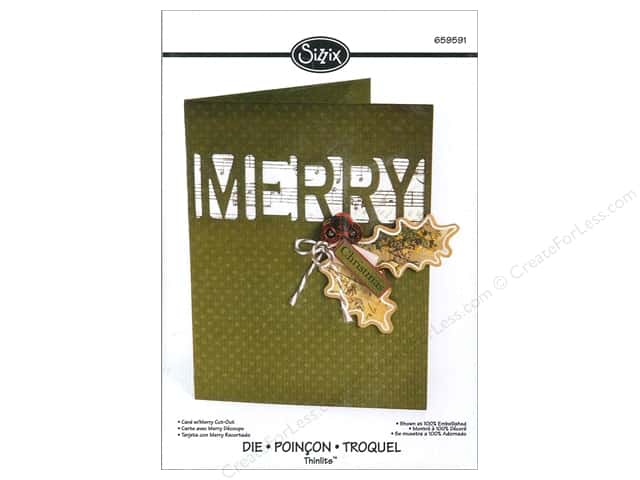 Sizzix Thinlits Die 1 pc. Card with Merry Cut-Out