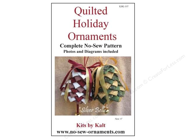 Kits By Kalt Quilted Holiday Ornaments Silver Bells Pattern