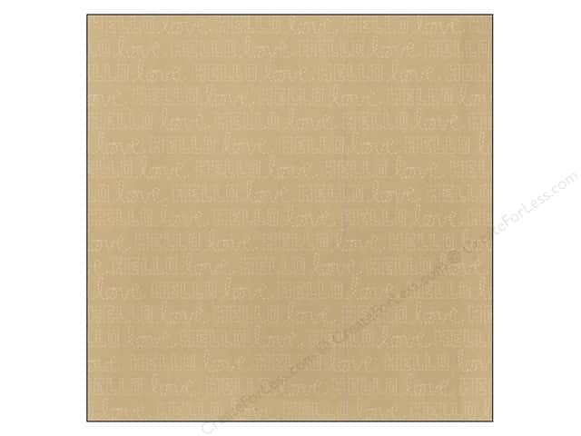 American Crafts 12 x 12 in. Paper Amy Tangerine Stitched Hooked Kraft (25 sheets)