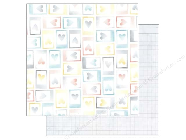 American Crafts 12 x 12 in. Paper Amy Tangerine Stitched Moments (25 sheets)
