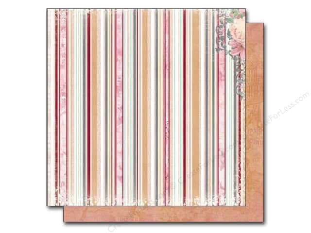 Bo Bunny 12 x 12 in. Paper Madeleine Stripe (25 sheets)