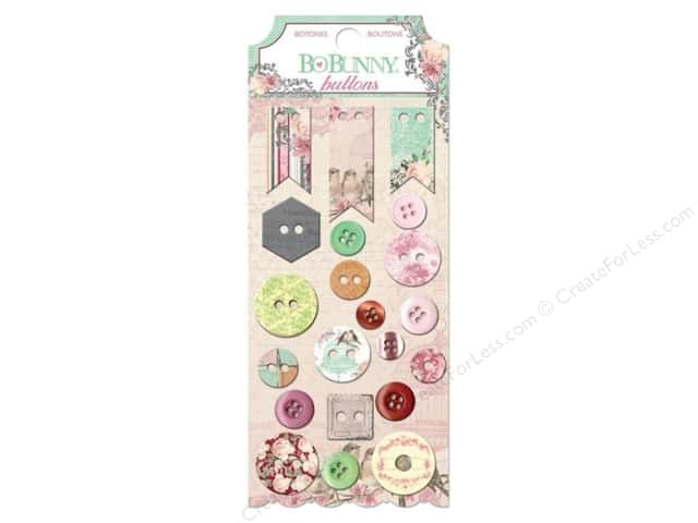 Bo Bunny Buttons 21 pc. Madeleine