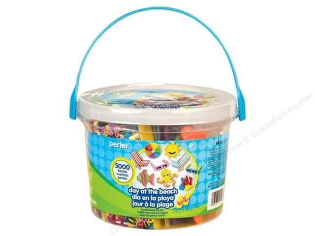 Perler Fused Bead Kit Bucket Day At The Beach 5000pc