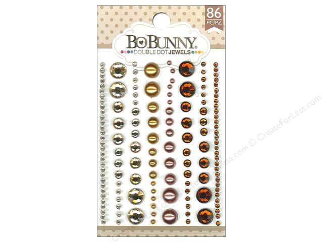 Bo Bunny Double Dot Jewels 86 pc. Mocha
