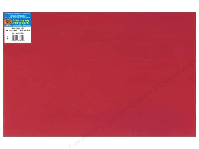 Foamies Foam Sheet 12 x 18 in. 3 mm. Red