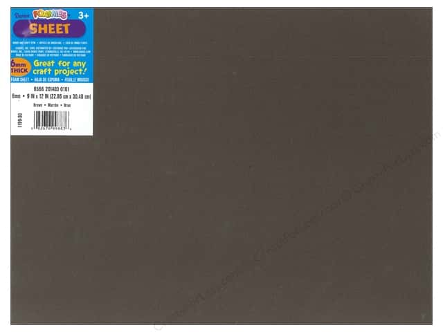 Foamies Foam Sheet 9 x 12 in. 6 mm. Brown