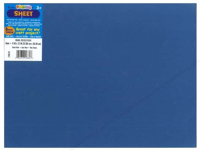 Foamies Foam Sheet 9 x 12 in. 6 mm. Royal Blue