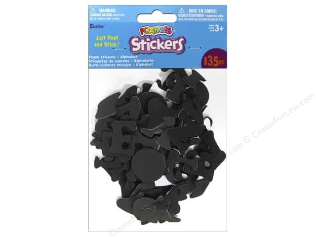 Darice Foamies Alphabet Stickers 135 pc. Black