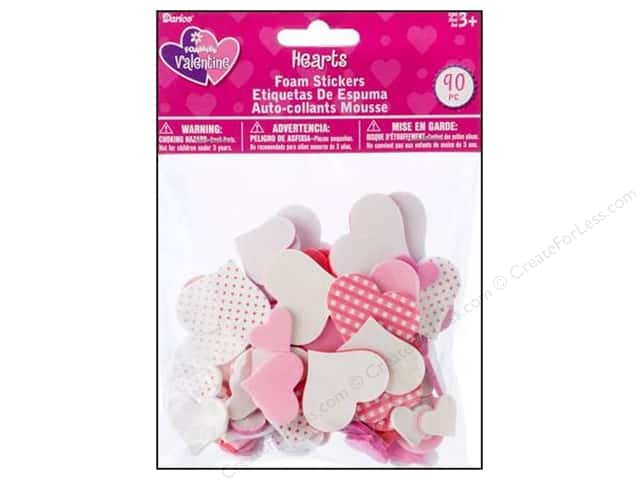 Darice Foamies Stickers Hearts 90 pc.