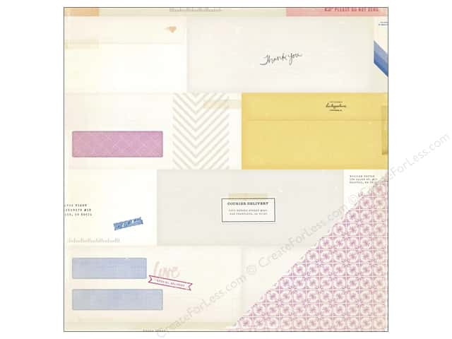 Crate Paper 12 x 12 in. Paper Notes & Things Enclosed (25 sheets)