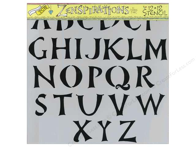 The Crafters Workshop Stencil 12 x 12 in. Zenspirations Brush Alphabet