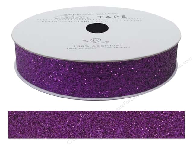 American Crafts Glitter Tape 5/8 in. Grape