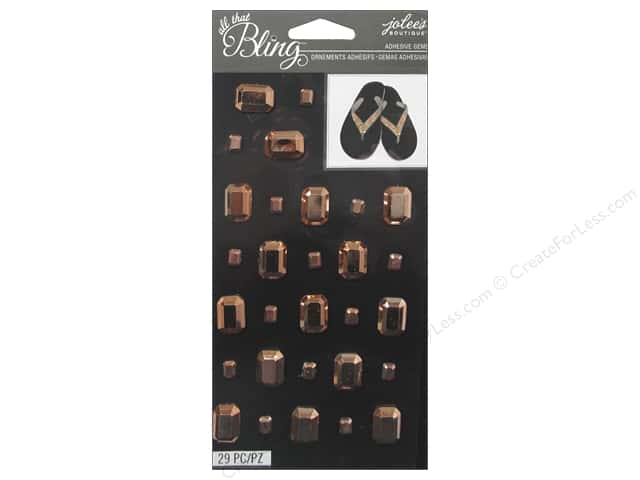 EK Jolee's Boutique Bling Gems Rectangle Rose Gold