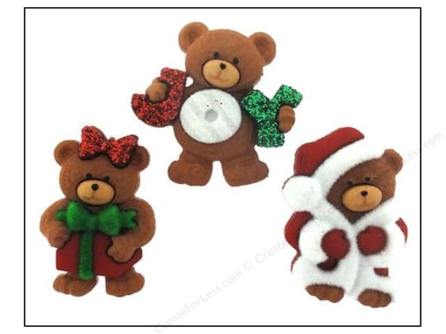 Jesse James Dress It Up Embellishments A Beary Merry Christmas