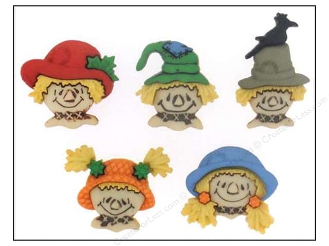 Jesse James Dress It Up Embellishments Scarecrow Faces