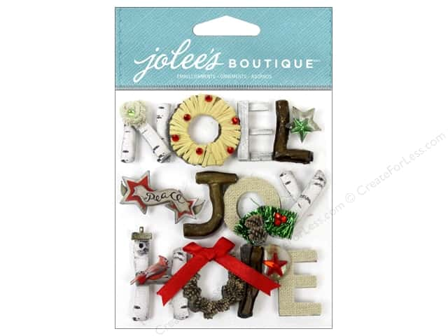 Jolee's Boutique Stickers Holiday Words