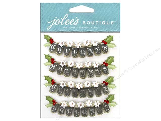 Jolee's Boutique Stickers Repeat Happy Holiday