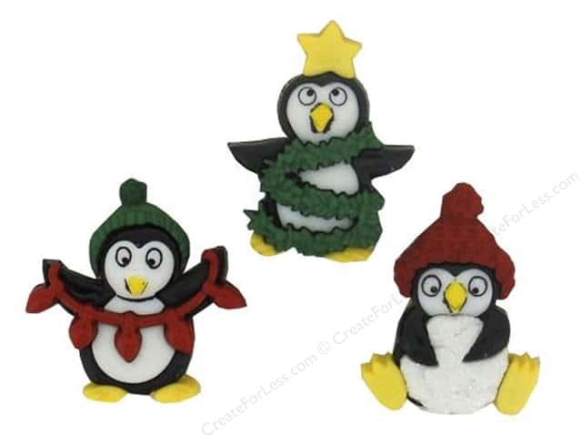 Jesse James Dress It Up Embellishments Holiday Penguins