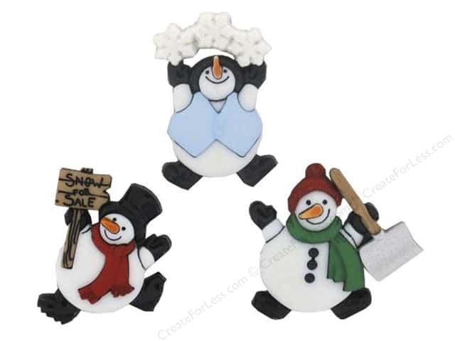 Jesse James Dress It Up Embellishments Roly Poly Snowman