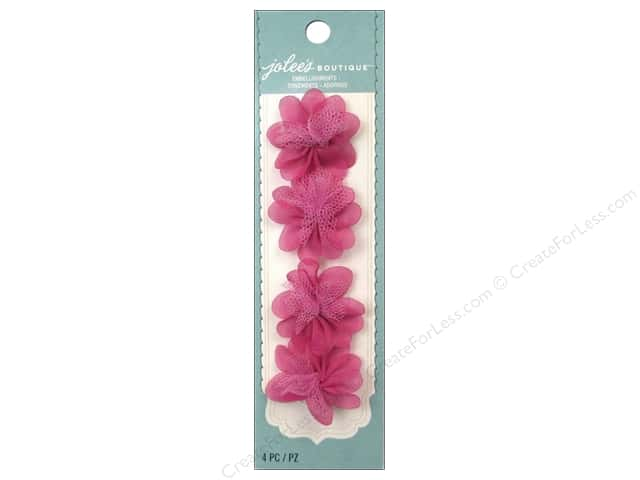 Jolee's Boutique Stickers Le Fleur Flower Mini Bright Pink