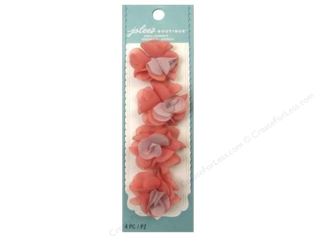 Jolee's Boutique Stickers Le Fleur Flower Mini Salmon