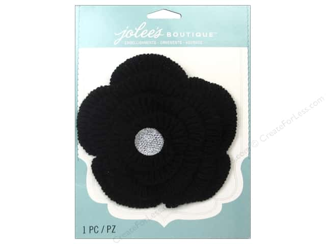 Jolee's Boutique Stickers Le Fleur Flower Large with Gem Black