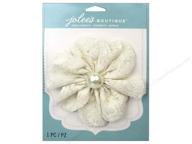 Jolee's Boutique Stickers Le Fleur Flower Large with Gem Lace Cream