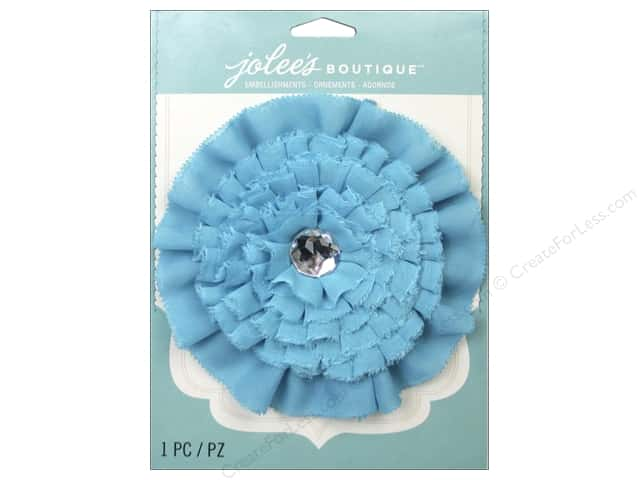Jolee's Boutique Stickers Le Fleur Flower Large with Gem Blue