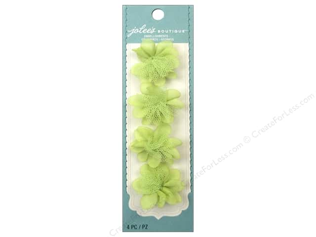 Jolee's Boutique Stickers Le Fleur Flower Mini Light Green