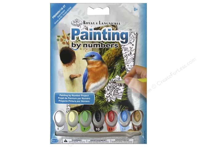 Royal Paint By Number Kit Eastern Bluebird