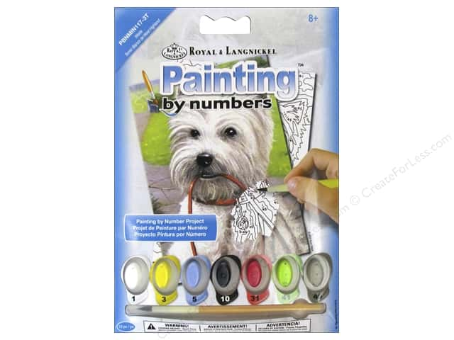 Royal Paint By Number Kit Mini Westie