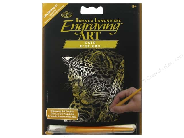 Royal Gold Mini Engraving Art Leopard In Tree