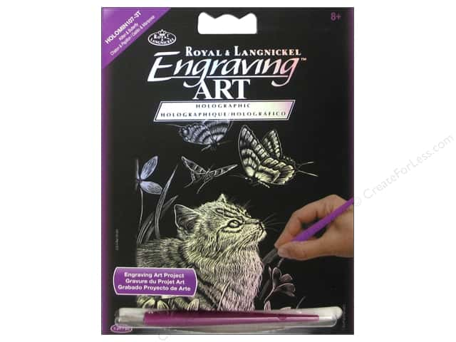 Royal Engraving Art Mini Kitten & Butterfly