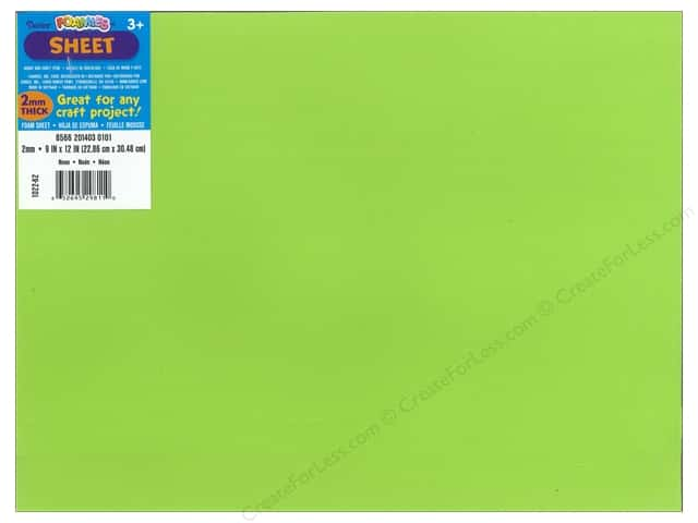 Foamies Foam Sheet 9 x 12 in. 2 mm. Neon Green (10 pieces)