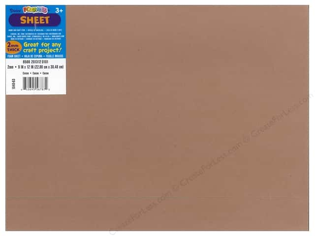 Foamies Foam Sheet 9 x 12 in. 2 mm. Cocoa Brown (10 pieces)