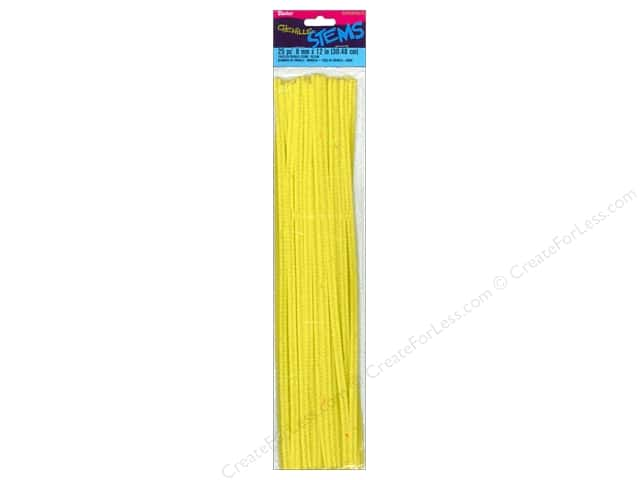 Darice Chenille Stems 6 mm x 12 in. Yellow 25 pc.