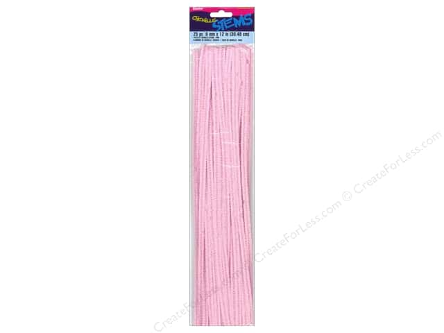 Chenille Stems by Darice 6 mm x 12 in. Pink 25 pc.