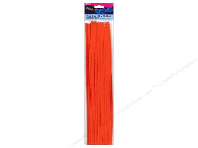 Darice Chenille Stems 6 mm x 12 in. Orange 25 pc.