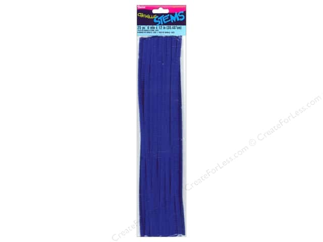 Darice Chenille Stems 6 mm x 12 in. Dark Blue 25 pc.